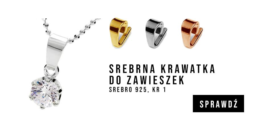 Krawatka srebrna