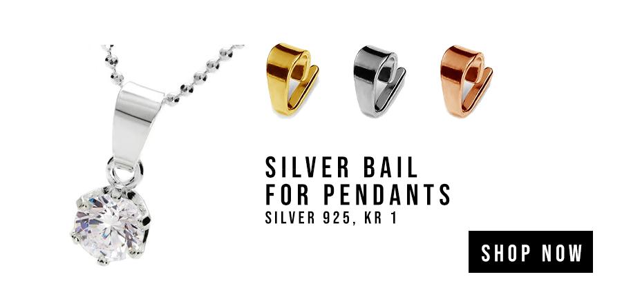 Silver bail for pendants, silver 925, KR 1