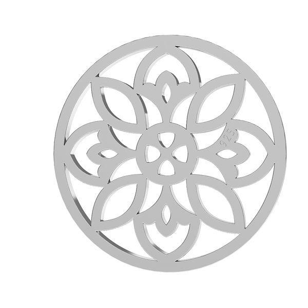 Rozeta ażurowa zawieszka blaszka ze srebra 925, LKM-2039