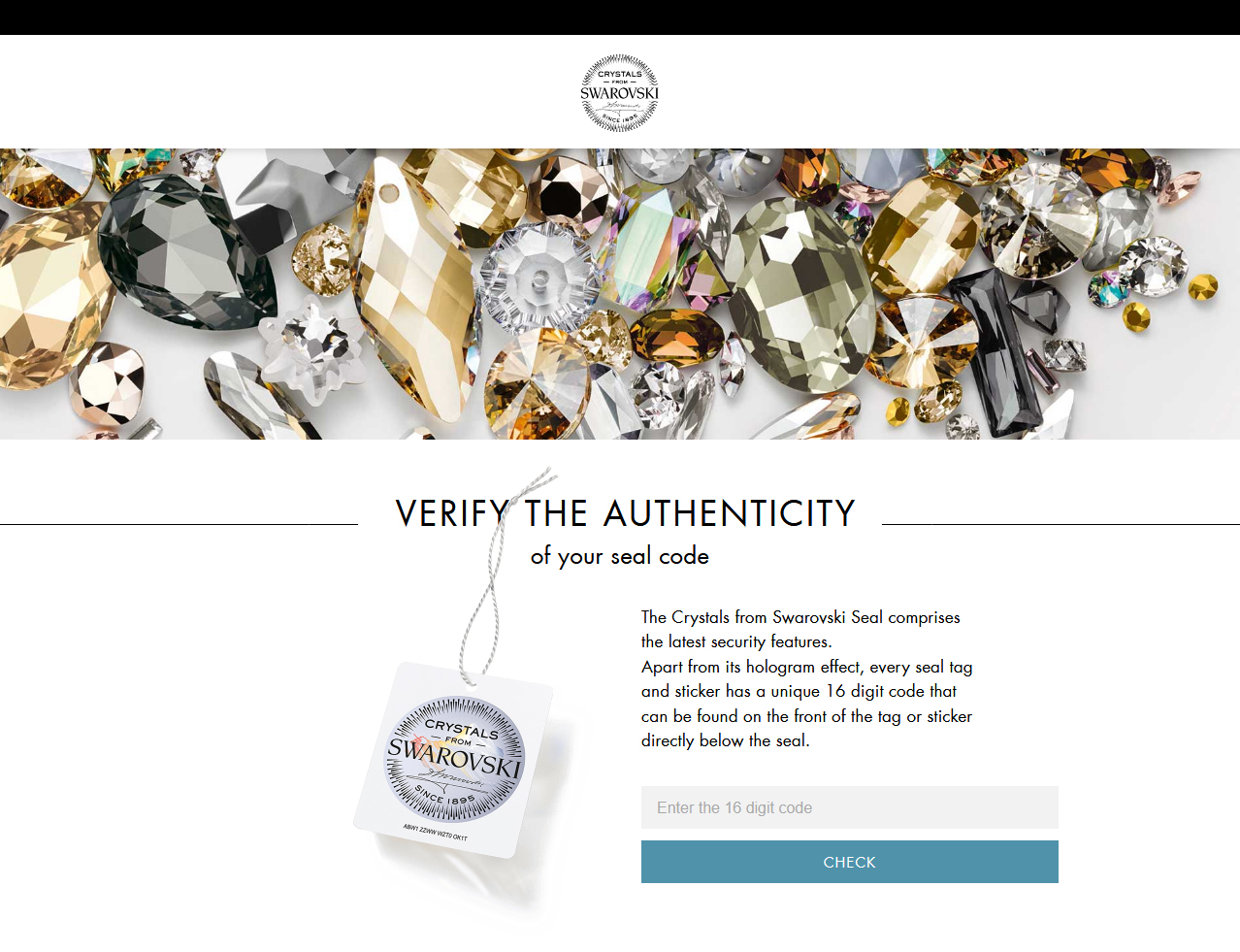 Verify the Authenticity of your Swarovski Code