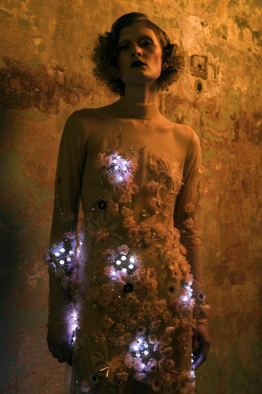 Marlene Dietrich kryształy Swarovski LED