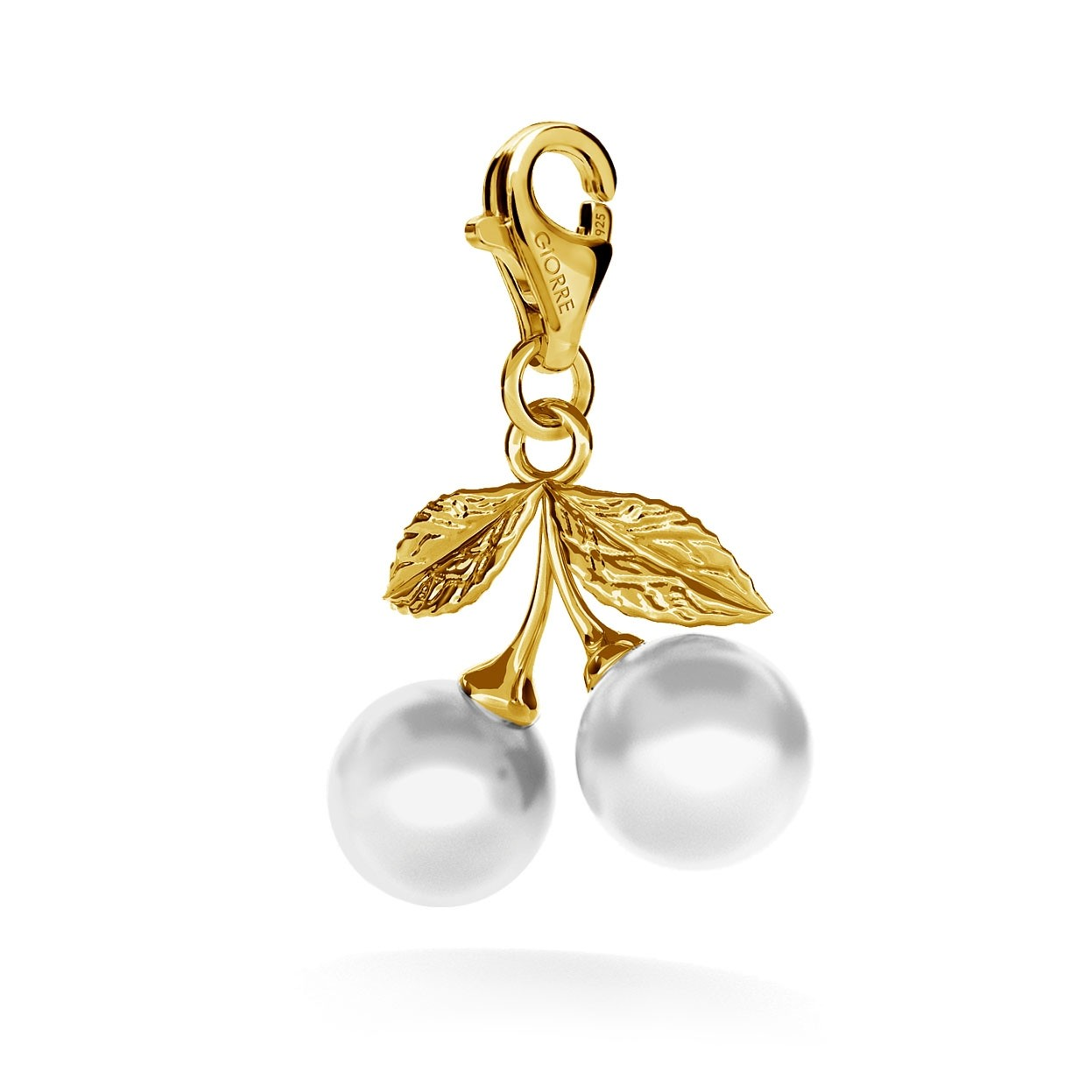 Charms perły Swarovski wisienki