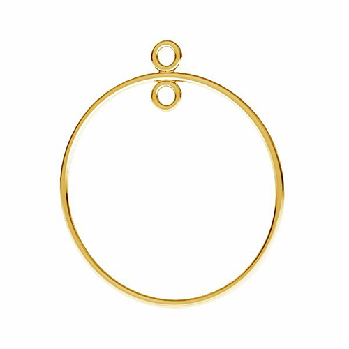Złote kolczyki koła 585