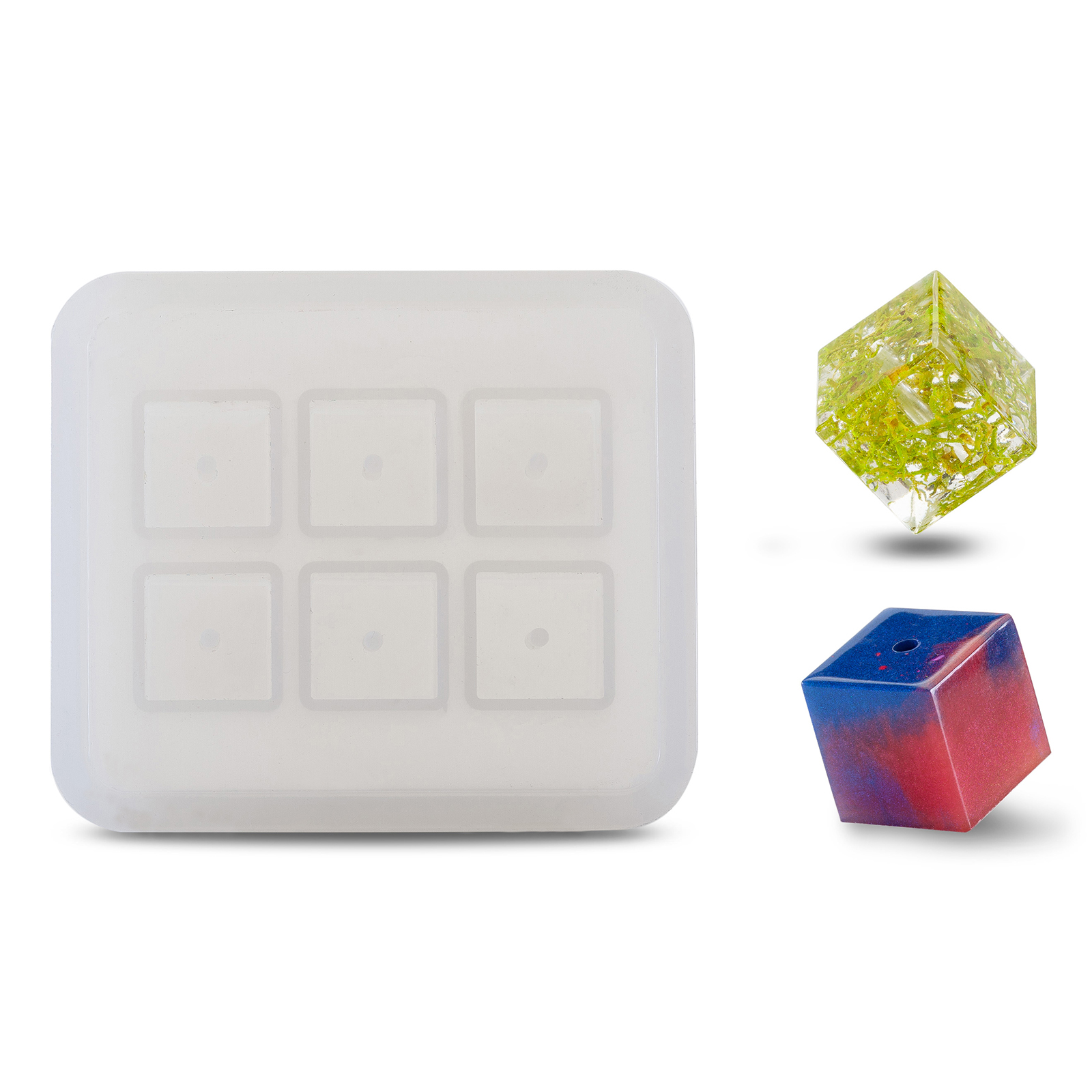 CUBE BEADS SILICONE MOULDS FOR EPOXY RESIN