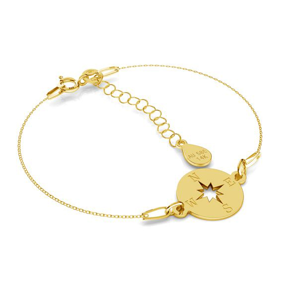 GOLD CHAIN BRACELET WITH PENDANT