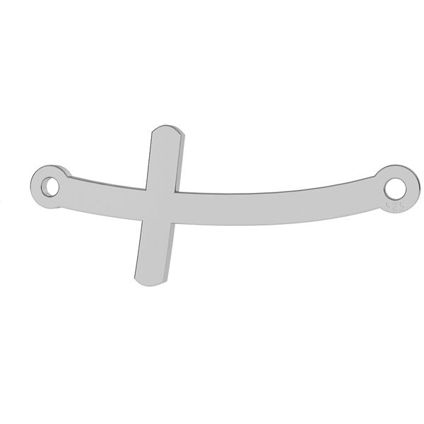 HORIZONTAL CURVED CROSS PENDANT - CONNECTOR