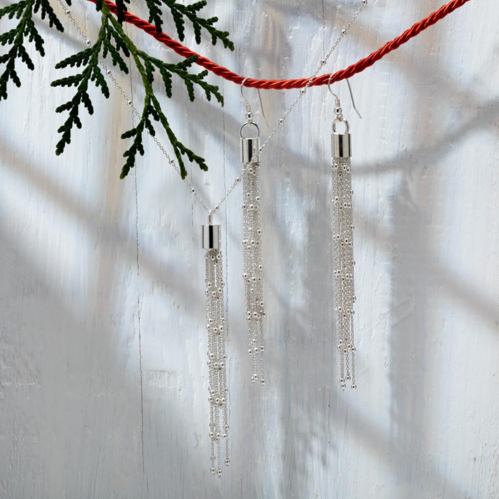 kolczyki srebrne długie