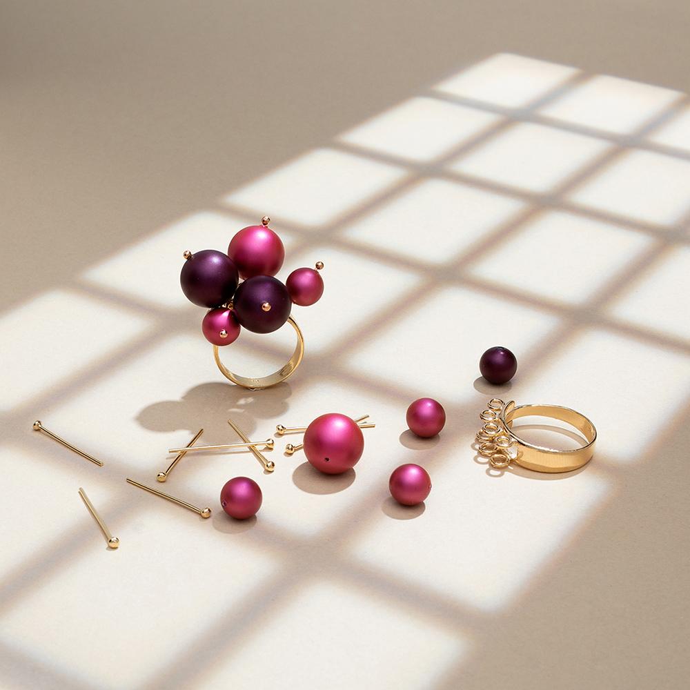 pierścionek z perłami