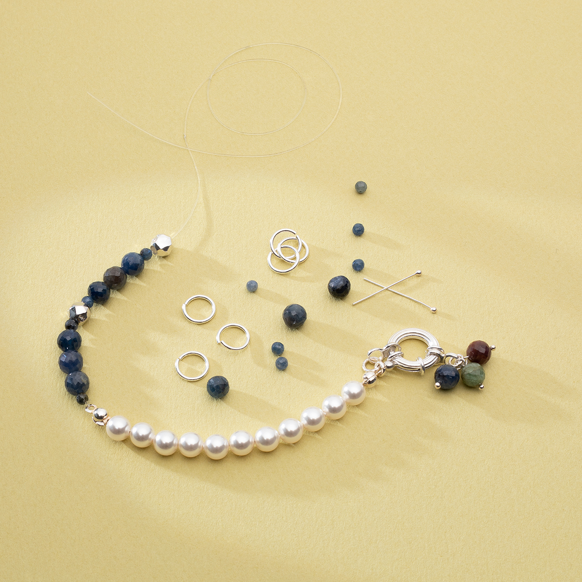 spring ring clasp with jumprings