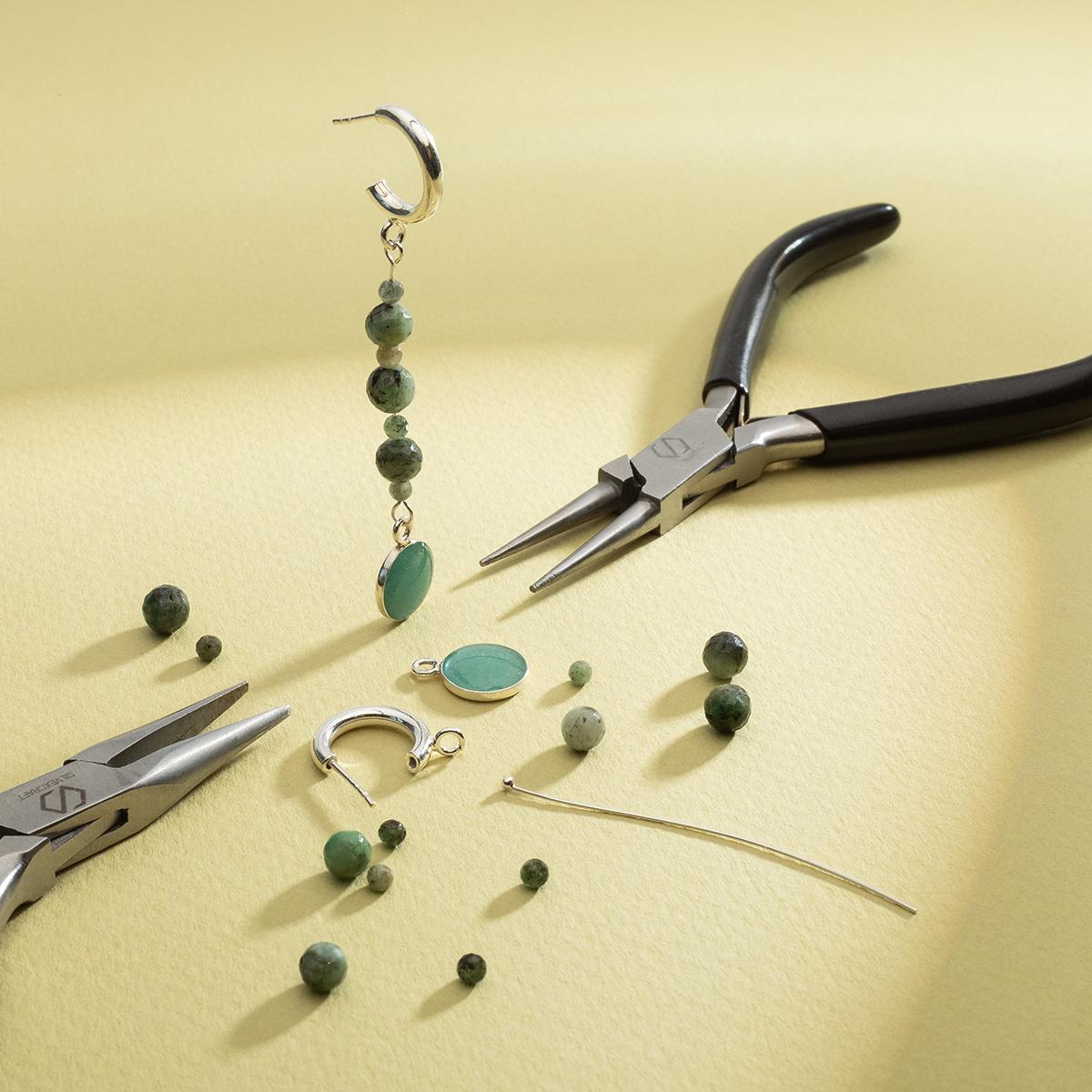 half hoop earrings with loop