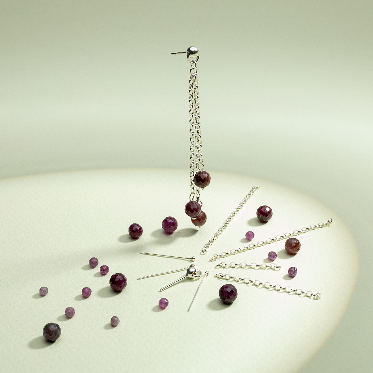 ball earring posts with jumprings