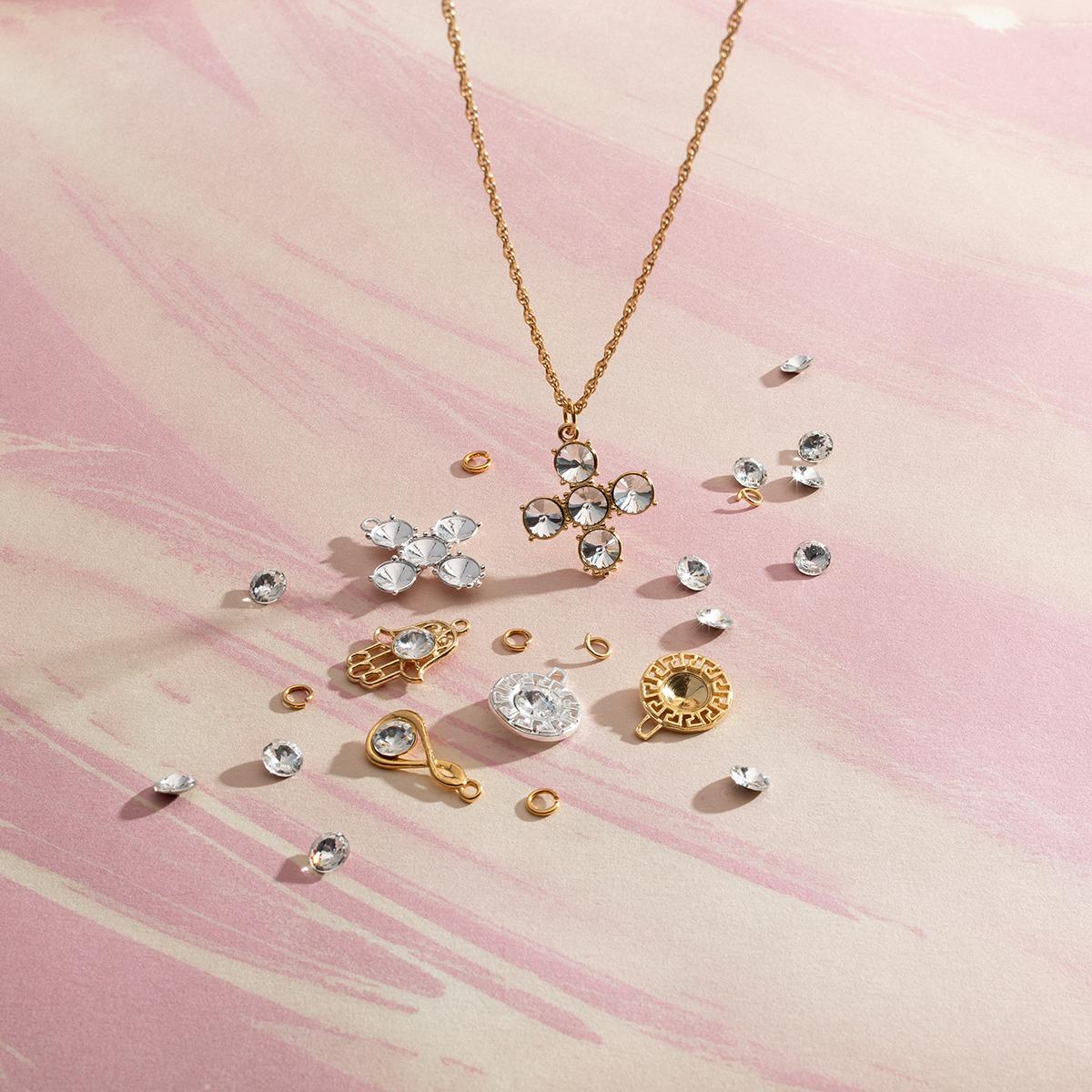 zawieszki srebrne z kryształkami