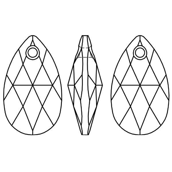 zawieszka migdał kryształ