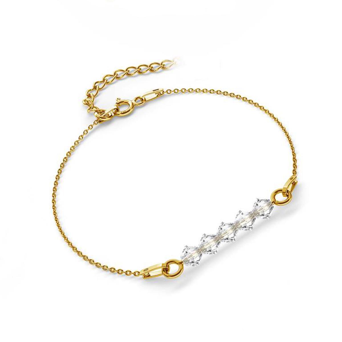 bicone beads bracelet