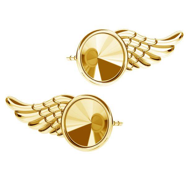 rivoli wing stud earrings